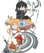 でふぉ版 ☆ SAO Blu-ray パッケージ カバーなし イラスト ※ メディバン ペイント