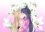 柚ちゃんと皐ちゃんのキスシーン
