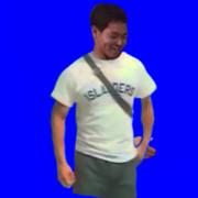にやけるシャツ先輩.bb