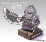 ほぼ毎日デフォルメ#387 羽の騎士