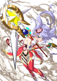 調子に乗り強武器を2つ装備したら制御が効かなくなり涙目な魔法少女