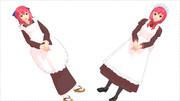 【MMD月姫】琥珀&翡翠【モデル配布】