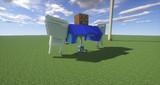 Minecraft」対戦用機体作成中「jointblock