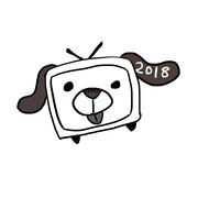超会議2018ロゴ「TVわんだ=ふる3世」ver単体モノクロ