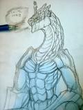 シャーペンでドラゴン描いてみた