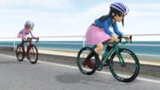 海沿いのサイクリング