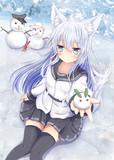 雪ウサギと冬ヒビキツネちゃん