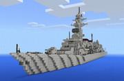 【マイクラPE】駆逐艦作ってみた