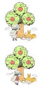 やみくもに木をゆらしちゃだめよ