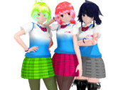 【すいまじ】3人娘配布準備中【貨客船娘】