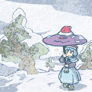 乱れ雪中忘れ傘
