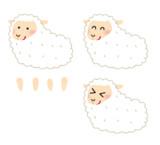 パーツ分け羊くん(表情差分付き)