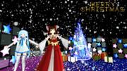 [4K]2017 クリスマス雪ミクと霊夢 壁紙