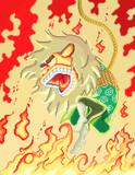【ドット絵】オシシ仮面(着火後)【あやうし!ライオン仮面】