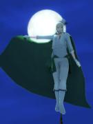 月光と謎の男