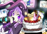 結月ゆかりさんの誕生日イラスト