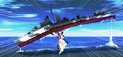 HMSジャベリン投げるジャベリンちゃん
