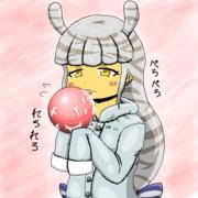 サバンナシマシマオオナメクジ&ピンクの球体さん