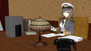 三笠提督の仕事机