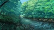 背景:森林と川