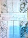 喫茶店の紙に描いてみた2
