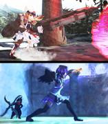 【第二回MMDオリキャラ祭り】ガンランスのレア様と片手剣のデフォ子さん。