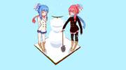 琴葉姉妹 雪の中