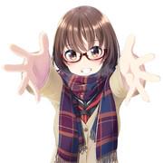 マフラー眼鏡