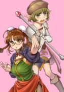 武闘家りっちゃんとハーフエルフ魔術師涼ちん(女装備)