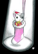 クリスマス靴下にゃんこ