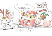 パパッと描いたクリスマスサンタルナ