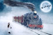 蒸気機関車 綺麗なイラスト 坂本勝直