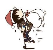 駆逐艦にプレゼントを配っていた提・・・サンタ捕獲される