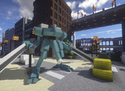 #Minecraft 試作型コンバットフレームを起動 #JointBlock