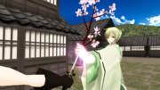 鋼の刀に桜が咲く