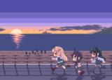 【gifアニメ】初日の出の海へ