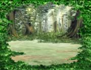 ♣RPGVXACE改変素材♣明るい森2_遠景