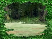 ♣RPGVXACE改変素材♣暗い森2_遠景