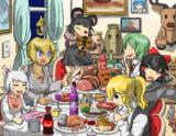 食卓を囲むイースター☆ファミリー