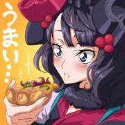 """""""ぴざ""""をはじめて食べる北斎"""