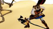 砂漠のアンデッド戦闘