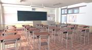 背景素材「教室2」