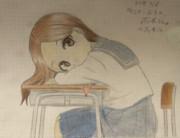 からかい上手の高木さんを色鉛筆で描いてみた