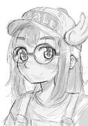 アラレちゃん(落描き)