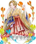 正月は過ぎましたが袴を穿いた女の子を描きたかっただけです。