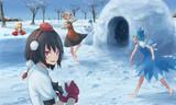 秋姉妹と雪遊びする文チル