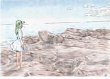 色鉛筆で三浦半島(神奈川)