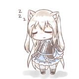 立ったまま眠るのらちゃん