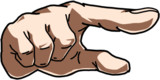 指をさす手の練習絵
