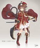 軍服コス橙ちゃん
